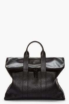 3.1 PHILLIP LIM Black full grain leather 31 hour bag