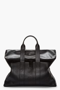 3.1 PHILLIP LIM Black full grain leather 31 hour bag