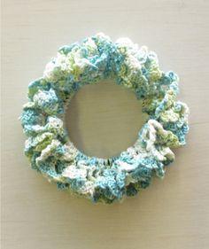 ネット編みのシュシュの作り方|編み物|編み物・手芸・ソーイング|ハンドメイドカテゴリ|アトリエ