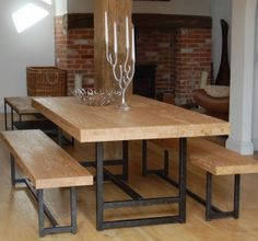 Bench Seat For Minimalist Dining Room Table With Candleholder Dining Room Adorable Benches For Dining Room Tables