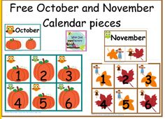 Blog post at Wise Owl Factory : Free Full Year of Calendar Numbers Printable Here is a free full year of calendar pieces for your pocket chart or bulletin board with seaso[..]