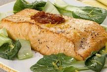 Baked Salmon with Bok Choy and Salsa (Atkins Diet Phase 1 Recipe) | Diet Plan 101