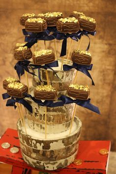 Treasure chest cake pops at a Pirate boy Birthday Party!  See more party ideas at CatchMyParty.com!