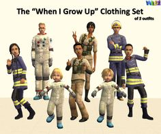 """Mod The Sims - """"When I Grow Up..."""" Play Outfits"""