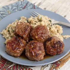 Honey Chipotle Turkey Meatballs from Tracey's Culinary Adventures