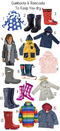 We all know that kids enjoy jumping in puddles. Whilst that probably makes many of you cringe, a pair of gumboots and a raincoat are all you need to protect you