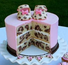 this is a beautiful baby girl babyshower cake