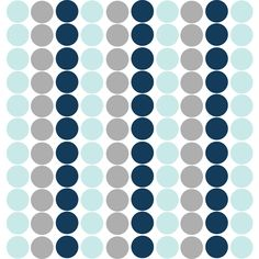 Navy, Silver and Aqua Removeable Wall Decal Dots