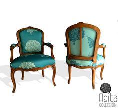 Luis XVI style chairs, 1st half of the 20th century in my FRUCTUS 031/032/ silla estilo Luis XVI, principios siglo 20, en mi FRUCTUS 031/032#lottihaeger #architecture #arquitectura #casa #colour #color #couleurs #design #diseño #decoración #decoration #färg #fabric #fabrics #furniture #hem #home #inredning #interiordesign #möbler #patrones #patterns #telas #tyger #tissus #textiles