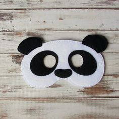 Panda Bear Kids Mask Animal Felt Pretend Play Dress Up Costume