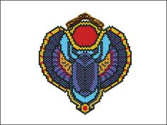 SCARAB PENDANT  PDF patern by EsotericBeads on Etsy, €3.50