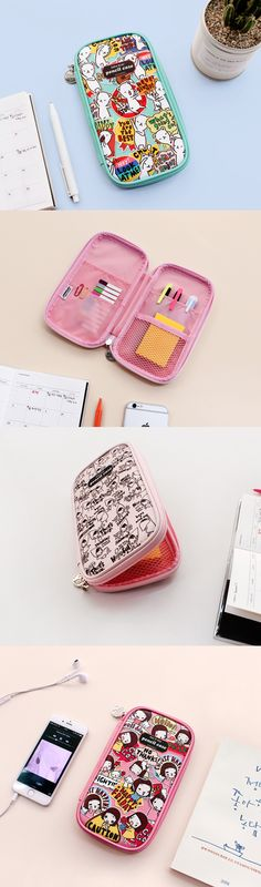 Have you ever seen pop art this cute? Add a bit of flavor to organization when you use this adorable pouch! You can use it for school supplies, stationery, makeup, and more!