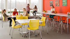 MultiGeneration by Knoll® Stacking Base Chair, Dividends Horizon® Table, Jamaica® Barstool
