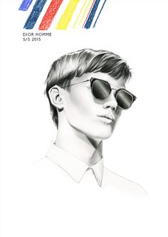 Illustration.Files: Dior Homme S/S 2015 Fashion Illustrations by Ewelina Dymek