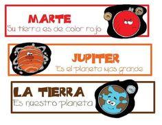 Fichas sobre el Sistema Solar | laclasedeptdemontse Spanish Teacher, Teaching Spanish, English Festivals, Space Solar System, Mission To Mars, Preschool Curriculum, Homeschooling, Space Exploration, Social Science