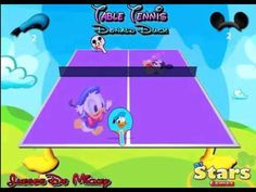 Table Tennis Donald Duck game. Play games at http://www.y7games.info/tabble-tennis-donald-duck.html. Amuse yourself with this hilarious game where Mickey and Donald are playing Ping Pong. Score 21 points and defeat your friend Mickey.