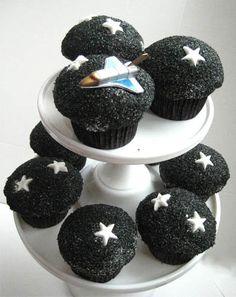 Outer Space Cupcakes   cupcakes cupcake space outer space rocket rocket ship dessert