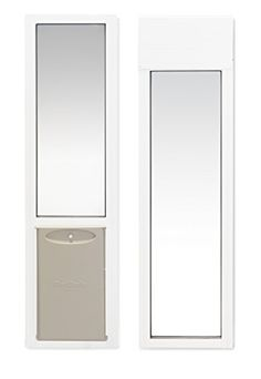 """PetSafe 2-Piece Sliding Glass Pet Door for Apartments or Rentals, 76 13/16"""" to 81"""" White, Medium * Check out this great article. #DogDoorsGatesRamps"""