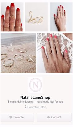Natalie Lane on Etsy Dainty Jewelry, Handmade Jewelry, Rose Gold Heart Ring, Summer Diy, Pattern Ideas, Summer Jewelry, Stitch Fix, Diy Ideas, Give It To Me