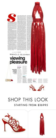 """""""""""Art of Shoes"""" - Manolo Blahnìk"""" by andreearaiciu ❤ liked on Polyvore featuring Manolo Blahnik and Givenchy"""