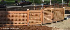 Lattice Fence & Gate in Claremont, California