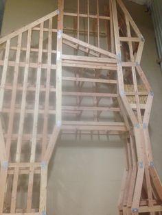 The frame for Sacramento's indoor climbing wall. Fall 2013