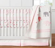 Harper Elephant Nursery Bedding #pbkids