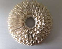 Petite Hymnal Book Page Wreath by TheGardeniaShop on Etsy