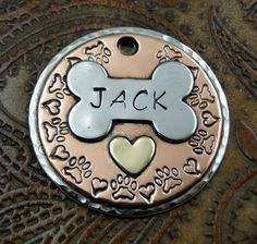 Custom Dog Tag  Pitter Patter Paws by IslandTopCustomTags on