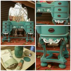 the Cokato vanity. nothing will compare to this. Diy Furniture Projects, Upcycled Furniture, Furniture Makeover, Repainting Furniture, Painted Furniture, Old Vanity, Antique Vanity, Dressing Table Vanity, Dressing Tables