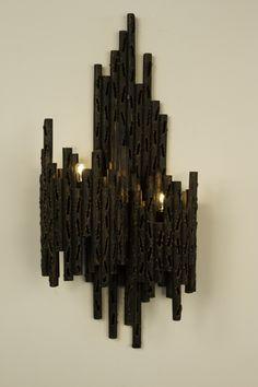 insane Brutalist wall lamp