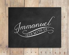 Immanuel God with Us Wall Art Print Download
