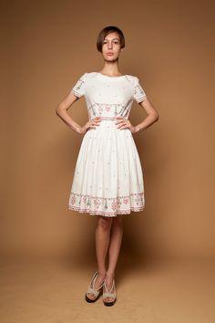 AKSINIYA  Linen dress with embroidery print by Mrs by mrspomeranz, £275.00