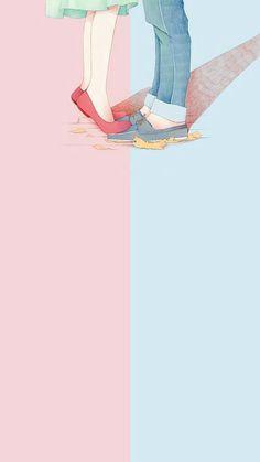 The post wallpaper 87 appeared first on Fosforlu Düşünceler! Cute Couple Wallpaper, Trendy Wallpaper, Kawaii Wallpaper, Love Wallpaper, Iphone Wallpaper, Art Love Couple, Anime Love Couple, Cute Anime Couples, Love Art