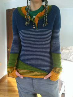 Ravelry: revi-and-noa's layers! (3 in 1 test) <- pinning because I've never seen anything like it.