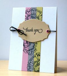 Great Thank You Card - love the stamping on the paper strips!