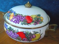 #Vintage #RegencyClub #Enamelware #DutchOven #CasseroleDish #Casserole #Dish (3qt)
