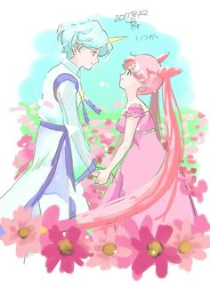 Princess and her prince Sailor Moon Crafts, Sailor Moon Stars, Sailor Chibi Moon, Sailor Saturn, Sailor Moon Crystal, Chibiusa And Helios, Wise Animals, Sailor Moon Wallpaper, Sailor Scouts