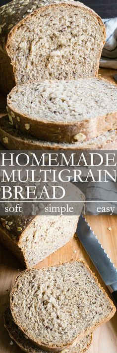 Hypoallergenic Pet Dog Food Items Diet Program Multigrain Bread Is Packed With Good For You Whole Grains, Seeds And Whole Wheat With Just A Touch Of Sweetness. A Simple Recipe For The Beginning Or Advanced Bread Baker Savory Bread Recipe, Homemade Breads, Bread Machine Recipes, Bread Recipes, Cooking Recipes, Healthy Recipes, Pastry Recipes, Vegetarian Recipes, Breads