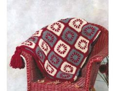 Crochet Burst of Color Afghan ...Free Pattern!