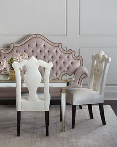 William+Dining+Chair,+Daniella+Tufted+Banquette,+