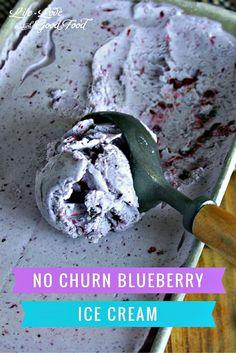 No Churn Blueberry Ice Cream