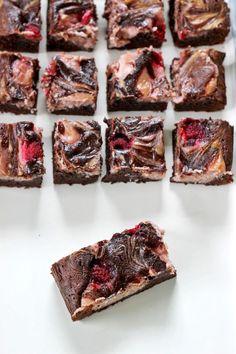Easy gooey raspberry cheesecake brownies...yum!   thekiwicountrygirl.com