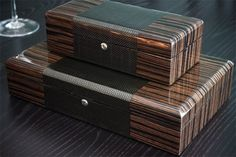 COol Wooden Watches - Gorgeous carbon fiber watch boxes  - Who Wooden? Who Wouldn't!