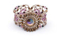 Victorian Lace Beadwoven Cuff Style Bracelet by BobbiePeneJewelry, $81.00