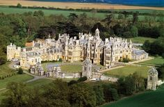 Harlaxton Manor, built in 1837, is a manor house located in Harlaxton, Lincolnshire, England. Its architecture, which combines elements of Jacobean and Elizabethan styles with symmetrical Baroque massing, renders the mansion unique among surviving Jacobethan manors. Harlaxton Manor by angelica