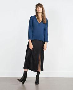 Image 1 of ASYMMETRIC TOP from Zara