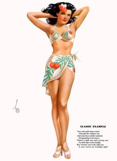 Alberto Vargas - September 1947 Esquire Magazine Yearbook Calendar Girl.