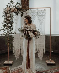 Bohemian bridal style, handmade details + vintage vibes - we're seriously obsessing over the moody + romantic bits from today's industrial… Wedding Aisles, Wedding Chairs, Elope Wedding, Chic Wedding, Wedding Table, Wedding Church, Wedding Country, Wedding Bride, Party Wedding