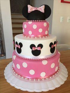 Resultado de imagem para bolo fake da minnie rosa quadrado
